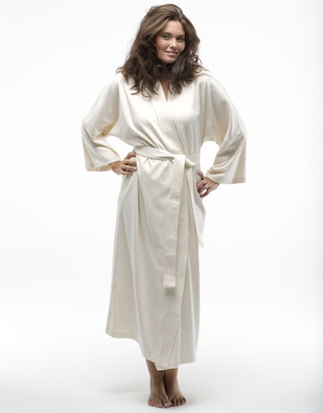 Under the canopy organic cotton robe, green gifts for the holidays.