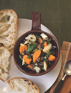 Black Barley and Autumn Vegetables