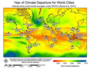 world climate departures map