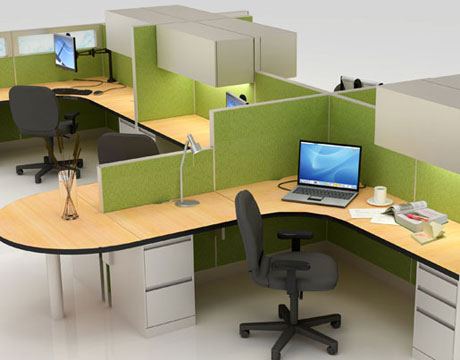 green office furniture sustainable refurbished and recycled