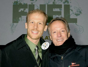 Josh Tickell and Peter Fonda at fuel movie event