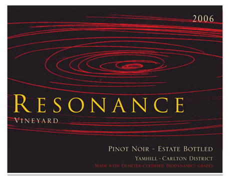 resonance vineyards biodynamic pinot noir