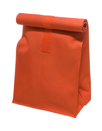 reusable brown bag lunch tote
