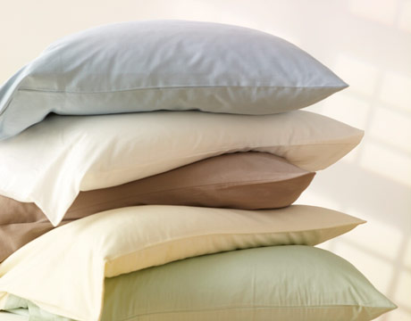organic cotton pillowcases on pillows by under the canopy