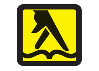wallking fingers yellow pages phone book logo
