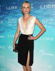 Amber Valletta at the  La Mer and Oceana World Ocean Day event.